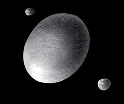 Хаумеа и спутники (рисунок)
