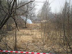 Обломки Ту-154М недалеко от аэродрома «Смоленск-Северный»