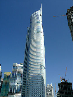 Almas Tower Under Construction on 9 January 2009 - SW view.jpg