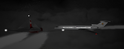 Модуляция авиакатастрофы при помощи компьютерной графики