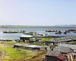 Слияние Иртыша и Тобола. 1912 год. Фото Прокудина-Горского С.М.