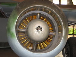 Nose view of a Jumo 004 engine