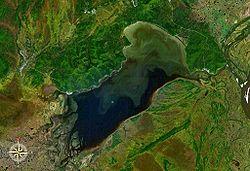 Озеро Болонь, фото НАСА