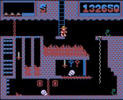 Снимок из игры Montezuma's Revenge (версия для Atari 2600)