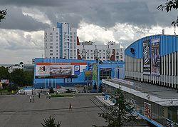 Барнаул на карте России с улицами и домами