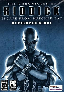The Chronicles of Riddick Escape from Butcher Bay front cover.jpg