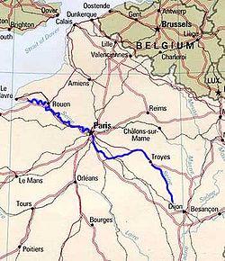 Сена на карте