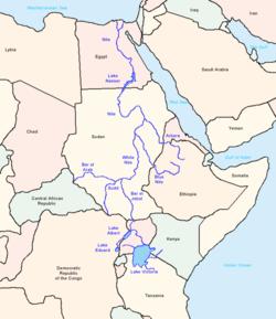 Карта течения Нила
