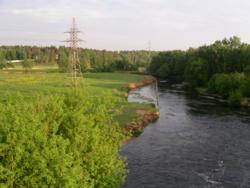 Вид с Казанской железной дороги между станциями Томилино и Красково