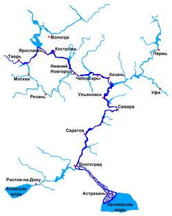 Волга и прилегающие водоёмы