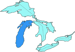 Мичиган в системе Великих озёр