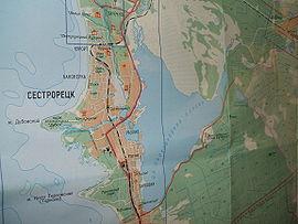План озера с окрестностями