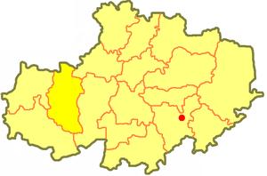 Жаксынский район на карте