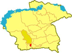 Илийский район на карте