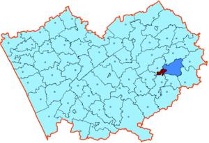Бийский район на карте