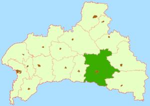Пинский район на карте