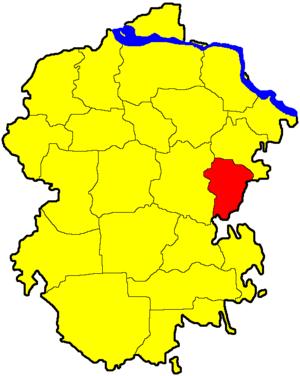 Янтиковский район на карте