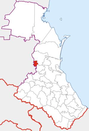 Новолакский район на карте