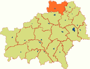 Рогачёвский район на карте