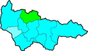 Белоярский район на карте