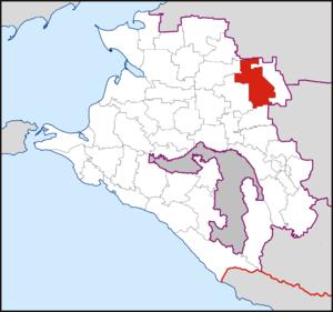 Новопокровский муниципальныйрайон на карте