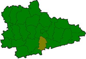 Притобольный район на карте