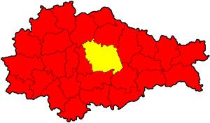 Курский район на карте