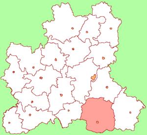 Усманский район на карте