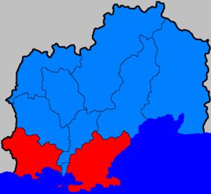Ольский район на карте