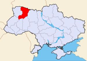 Ровенская область на карте