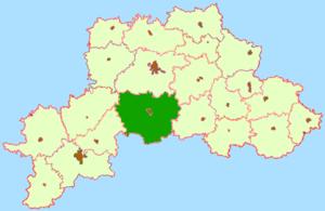 Быховский район на карте