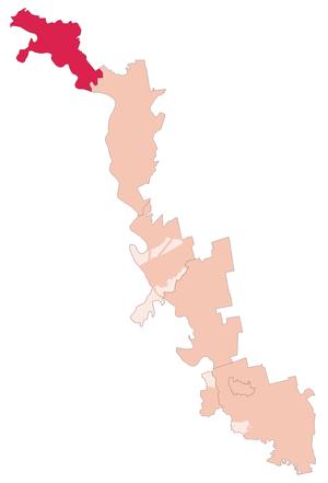 Каменский район на карте