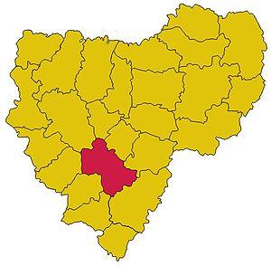 Починковский район на карте