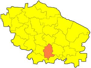 Георгиевский муниципальный район на карте