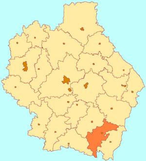 Уваровский район на карте