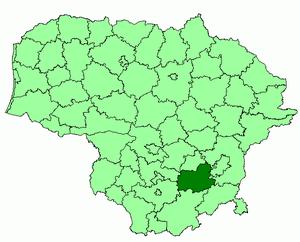 Тракайский район на карте