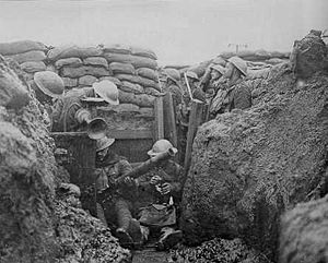 Trench warfare on the western front