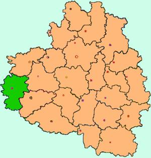 Белёвский район на карте