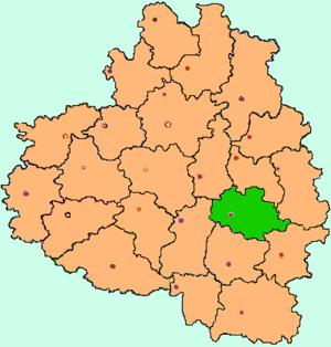 Богородицкий район на карте