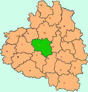 Щёкинский район на карте