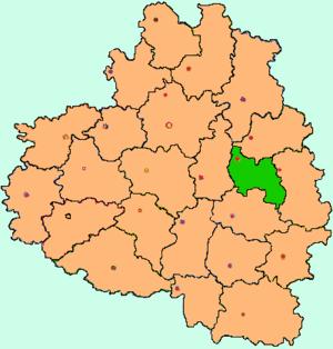 Узловский район на карте