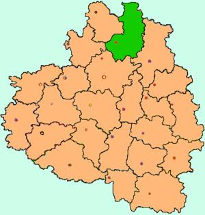 Ясногорский район на карте