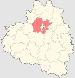 Ленинский район на карте