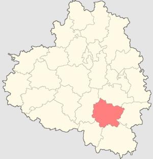 Воловский район на карте