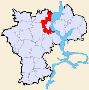 Ульяновский район на карте