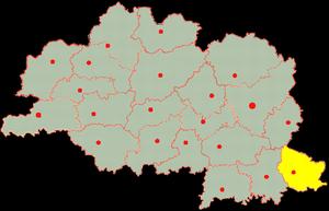 Дубровенский район на карте