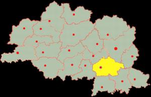 Сенненский район на карте