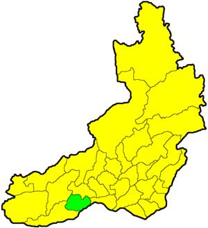 Акшинский район на карте
