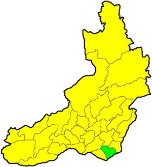 Краснокаменский район на карте