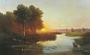 Атрыганьев Н.А. Вид на реку Остер в Могилевской губернии. 1885